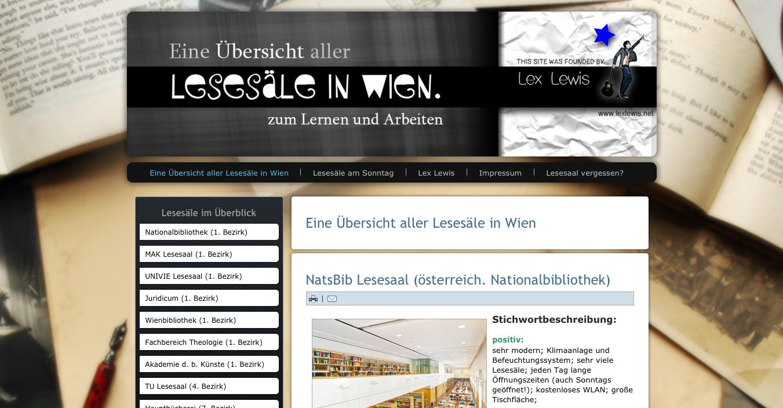 Wiener Bibliotheken und Lesesääle am Sonntag